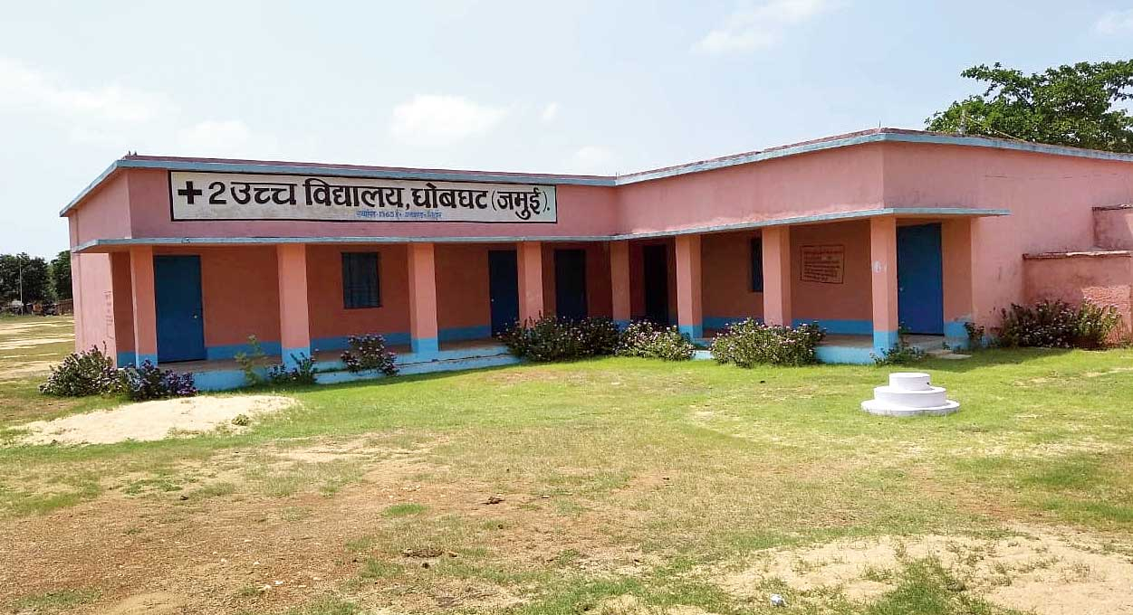 The government higher secondary school at Dhobghat in Jamui, Bihar. A government report says migrant workers stayed here but headmaster Kamta Prasad insists none has done so.