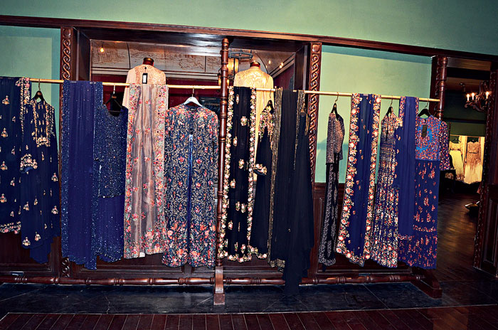 The display of the ensembles is also categorised into various shades, depending on the colour mood of the week or the month.