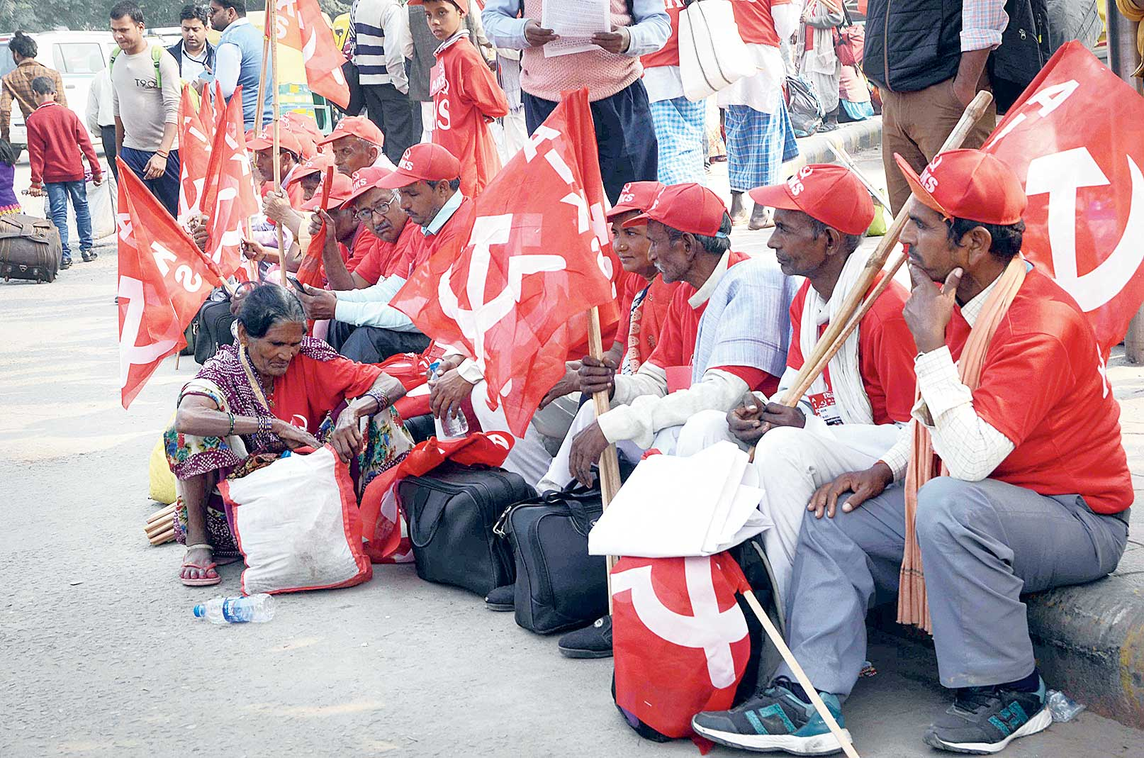 Farmers had marched through Delhi on Friday, highlighting agrarian distress and the suicides it had wrought, and demanding debt relief and good prices.