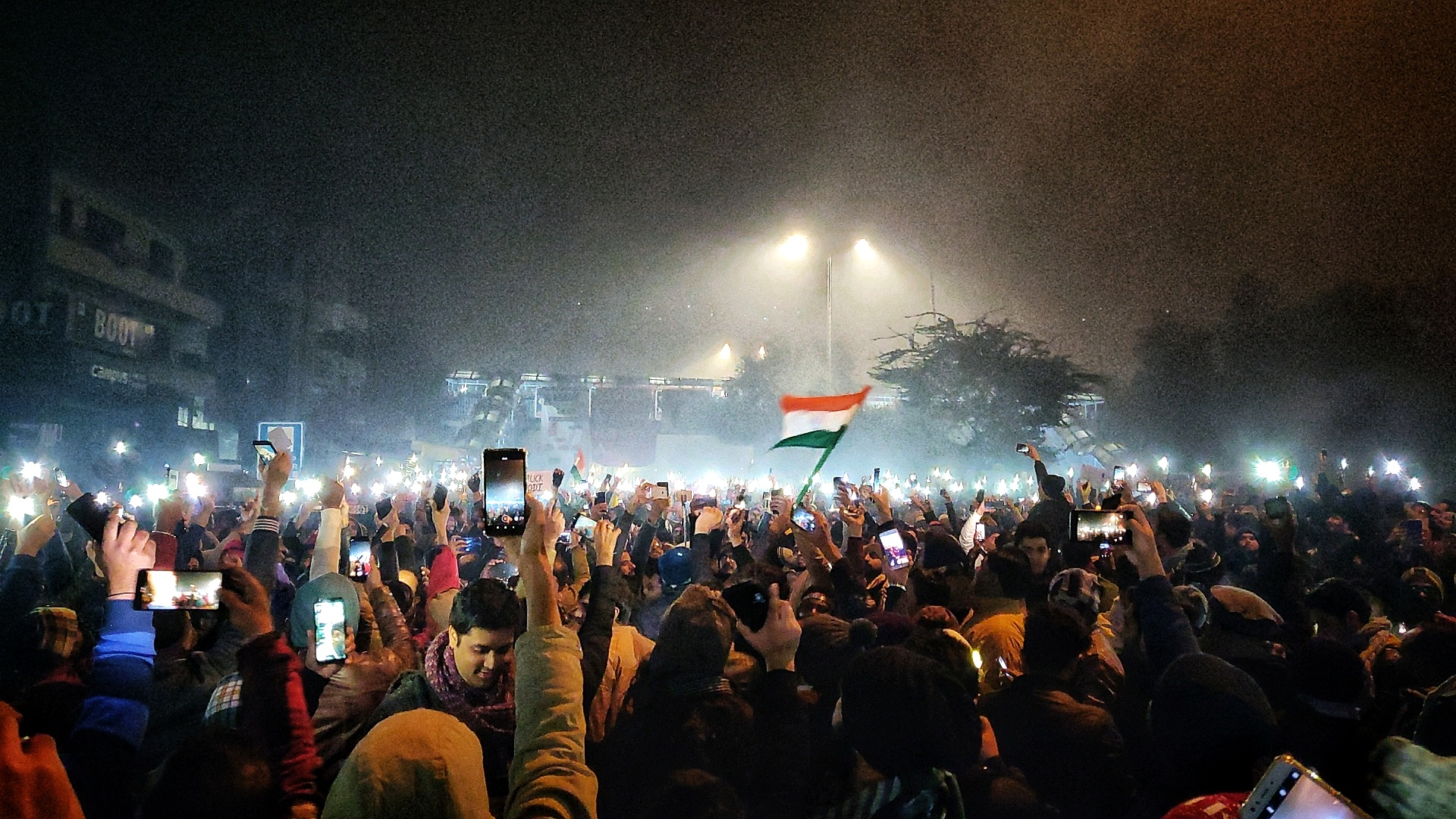 People gather at Shaheen Bagh in New Delhi to protest against the Citizenship (Amendment) Act, 2019 and the proposed nationwide exercise of National Register of Citizens, on Tuesday, December 31, 2019.