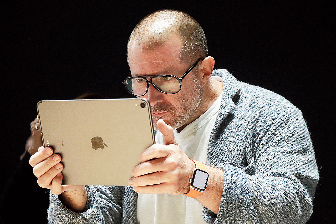 Chief design officer Jony Ive at the Apple Worldwide Developers' Conference in San Jose, California, on June 3.