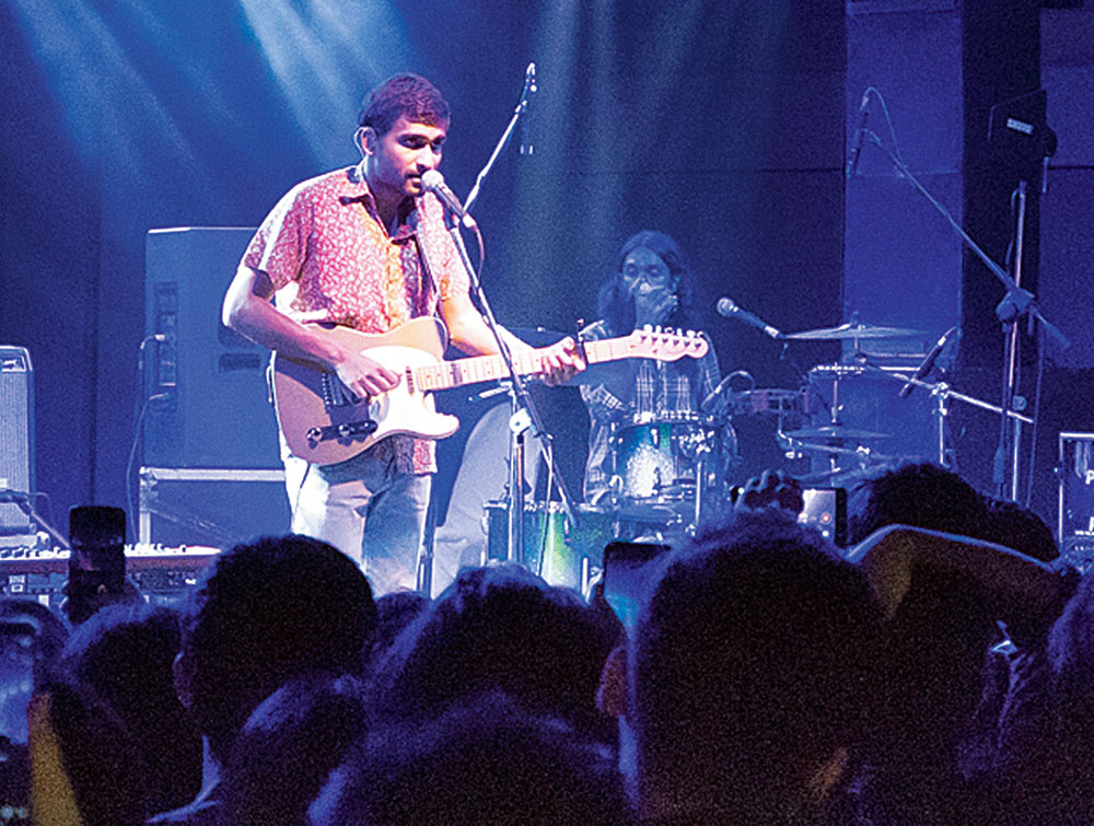 Prateek Kuhad on song at The India Story 4.0, in association with The Telegraph, at Swabhumi, Calcutta, on December 14