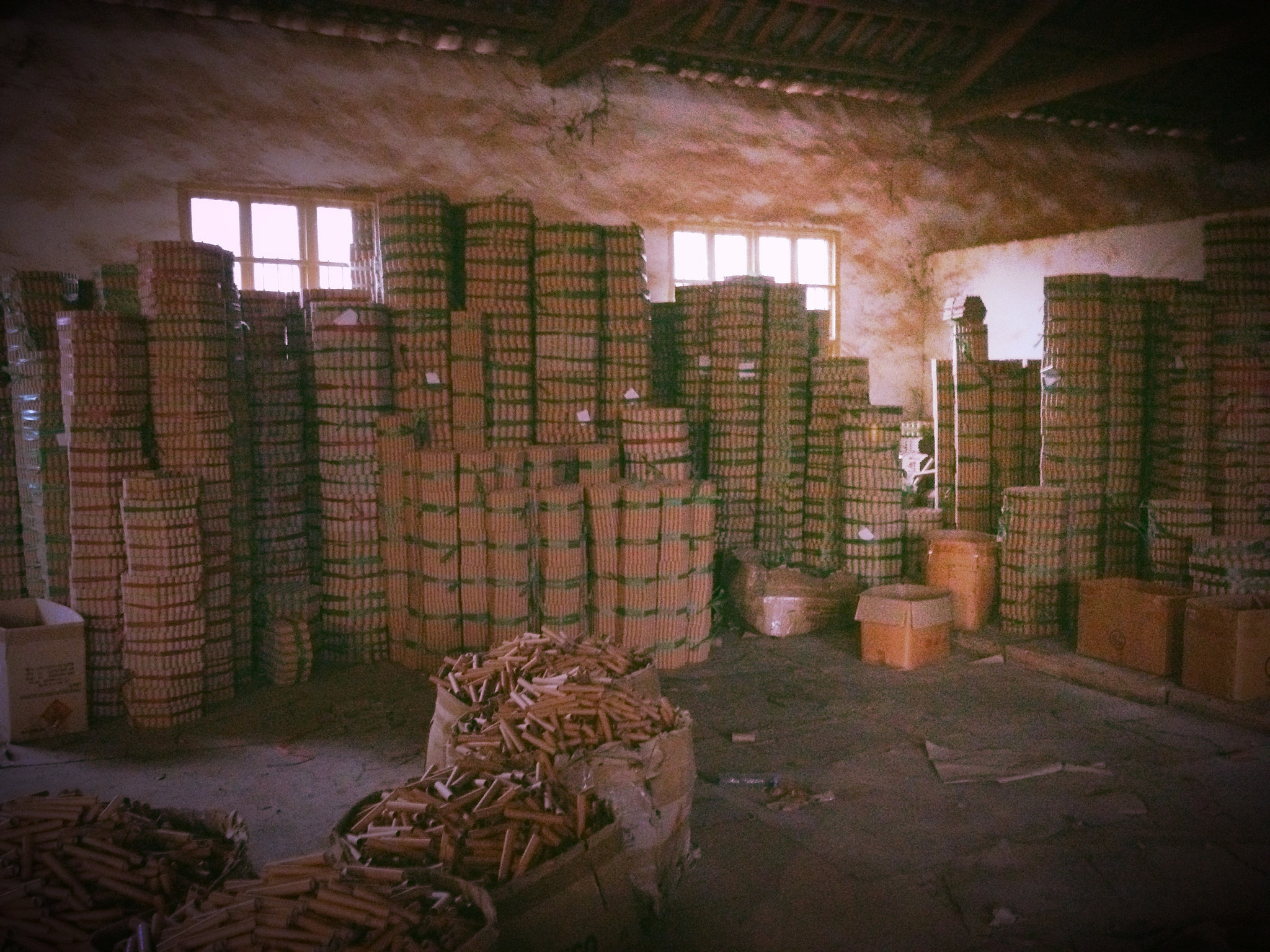 Inside a Chinese fireworks factory