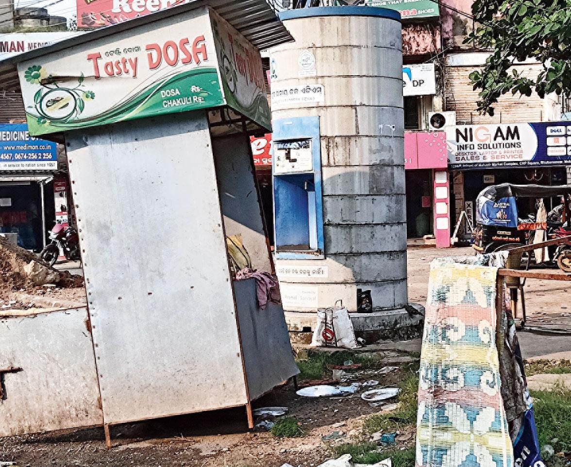 No safe drinking water: An unused ATM kiosk in Bhubaneswar on Thursday.