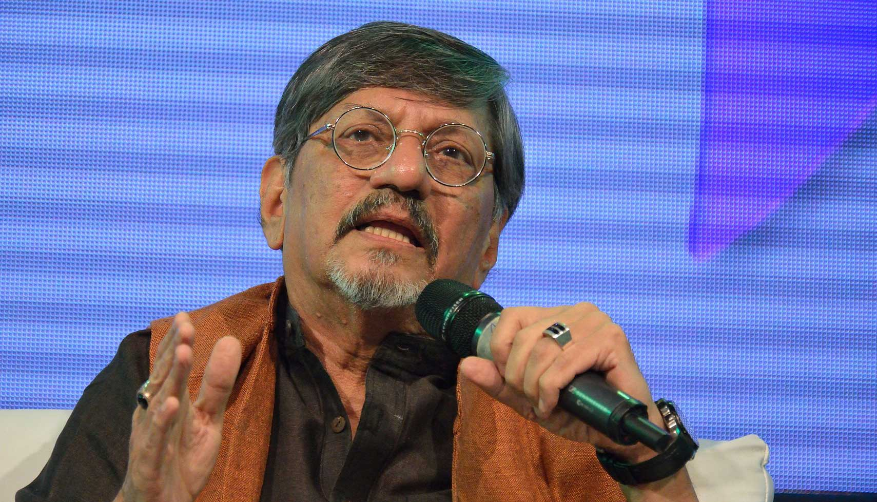 "In a video, Amol Palekar (in picture) is heard asking Thacker: ""Are you asking me not to speak? You have invited me to speak and (are) applying censorship (to) my speech?"""