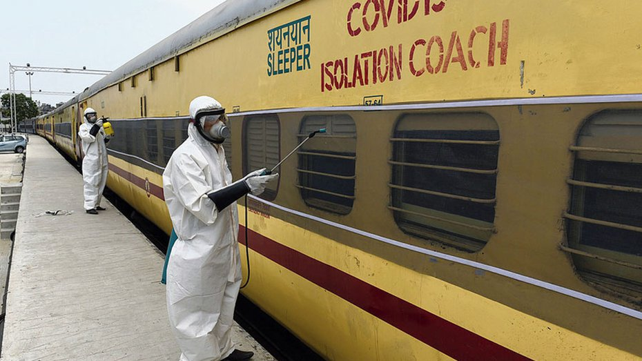 File photo of an Eastern Raukway coach being sanitized