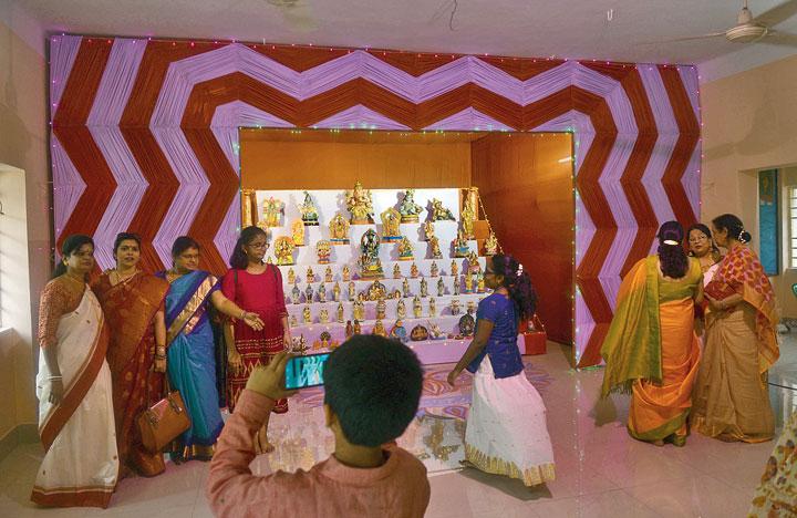 Navratri celebrations at South India Club on Tuesday.