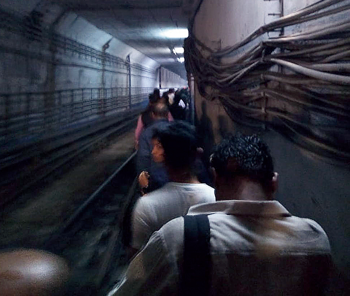 Fire and fear on Calcutta's Metro