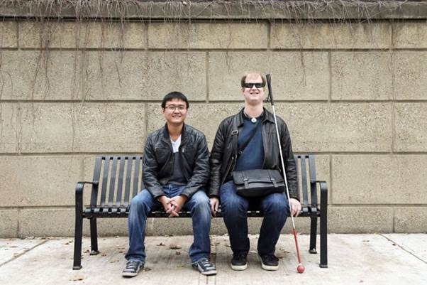 Bin Liu, CEO of iMerciv, and Rylan Vroom, a digital accessibility expert who is one of iMerciv's senior advisers
