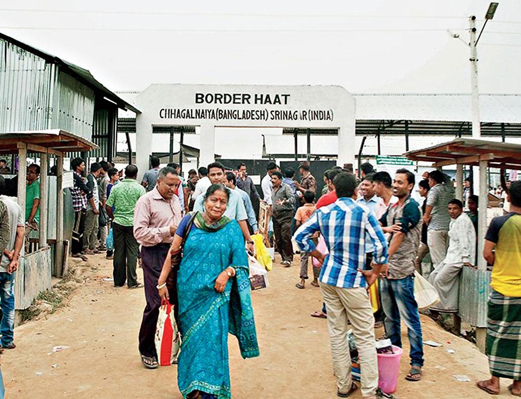 At the West Bengal-Bangladesh border