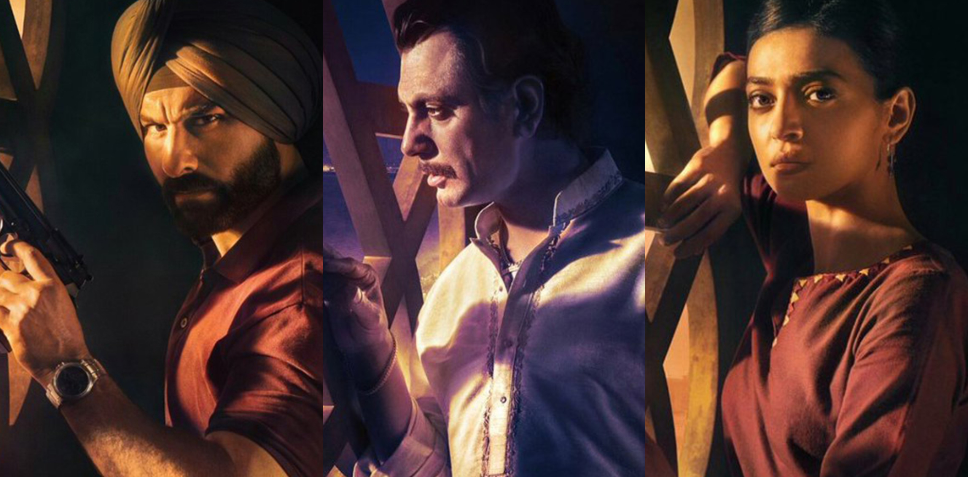 The first season of Sacred Games premiered on Netflix on July 6 and featured (from L-R) Saif Ali Khan, Nawazuddin Siddiqui and Radhika Apte