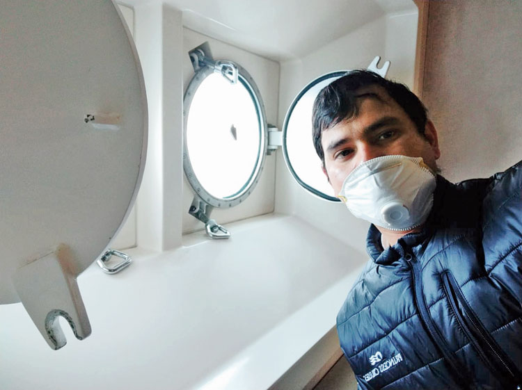 Binay Kumar Sarkar on board the cruise liner