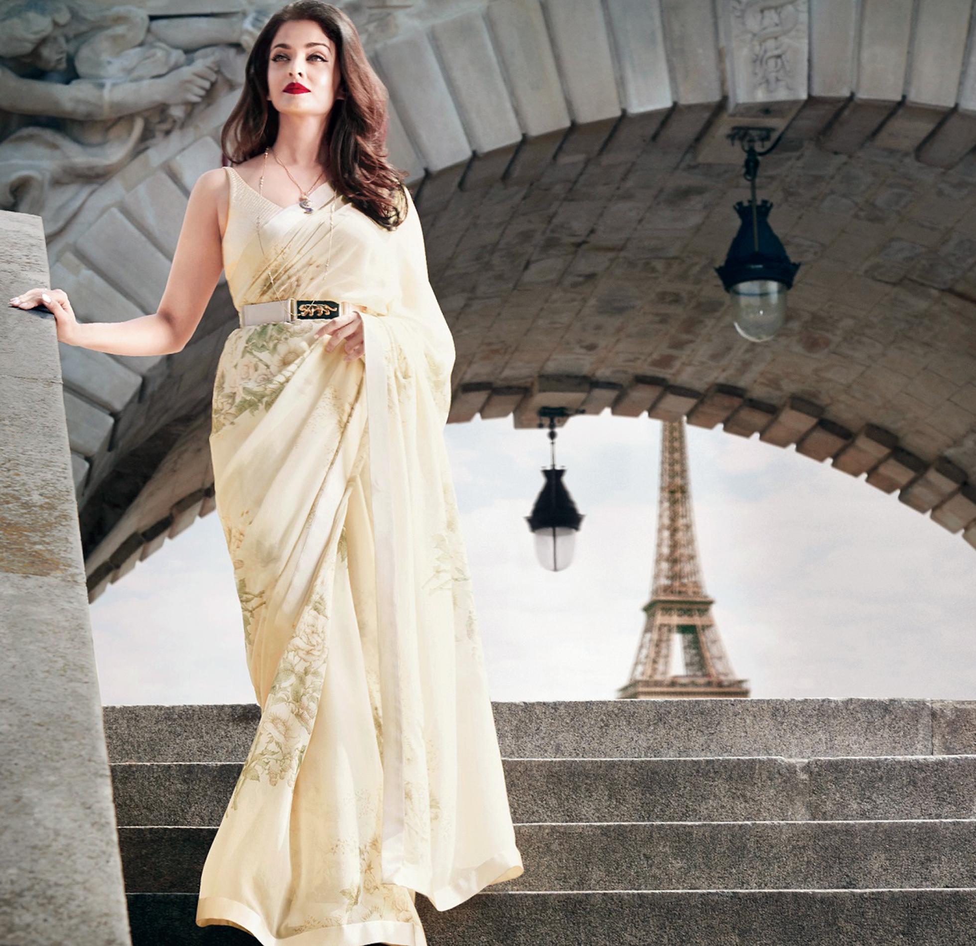 Aishwarya Rai Bachchan in the L'Oreal ParisXSabyasachi campaign