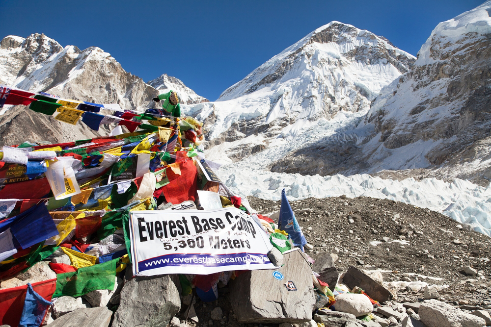 A view from Mount Everest base camp. This summer, 11 climbers are reported to have died on the Everest trail.