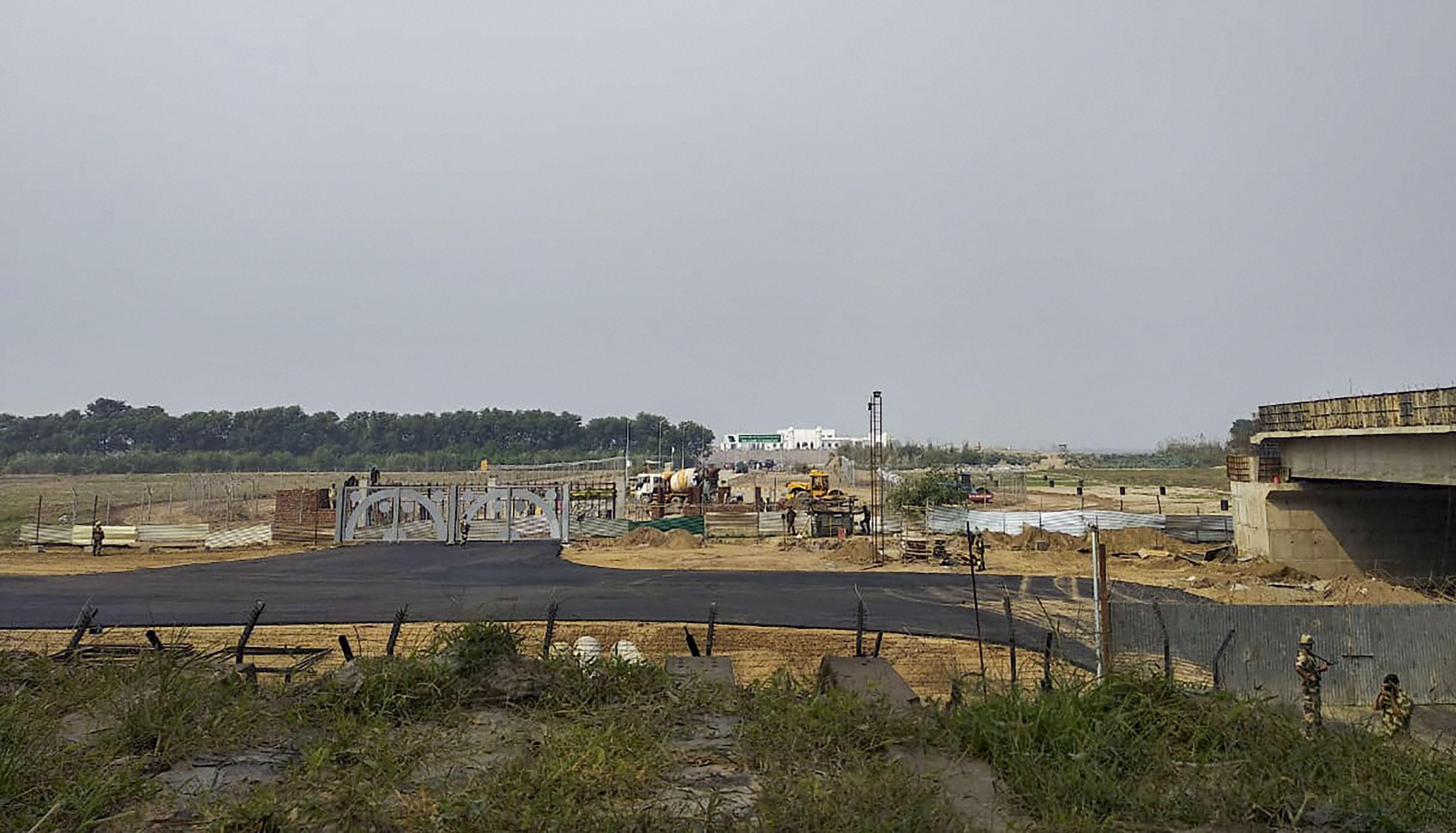 Construction work underway at Kartarpur Corridor in Pakistan, Wednesday, October 16, 2019