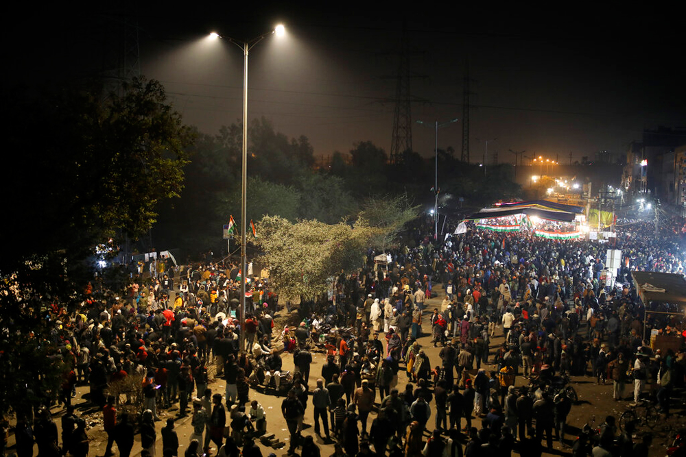 Delhi's Shaheen Bagh on January 22. The protests in the neighbourhood have inspired similar demonstrations across the country, including the fledgling one at Azamgarh