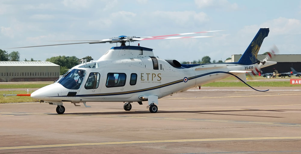 A representational picture of an AgustaWestland helicopter