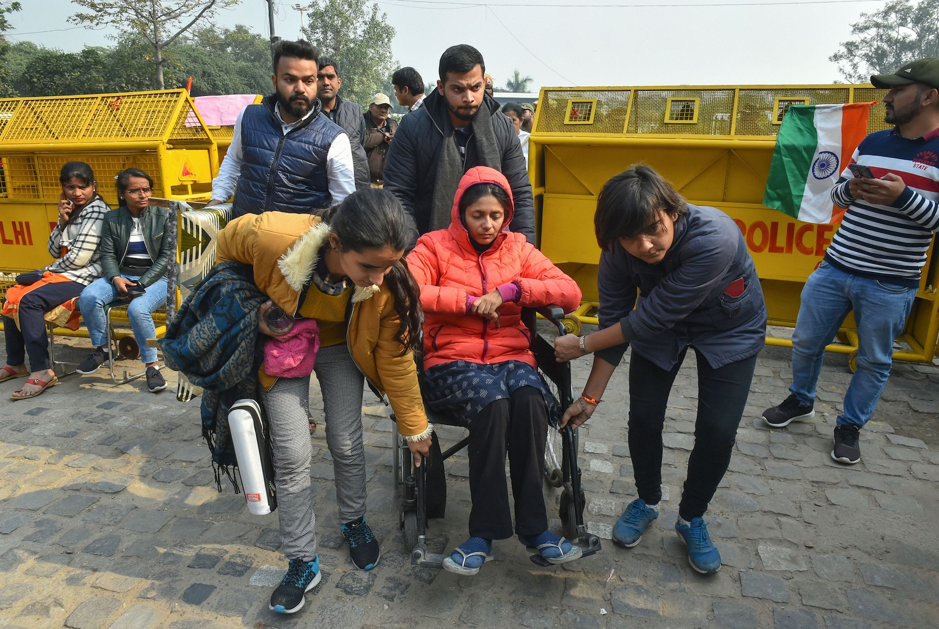 Delhi Commission for Women chairperson Swati Maliwal during her hunger strike at Samta Sthal, in New Delhi on Tuesday, December 10, 2019.