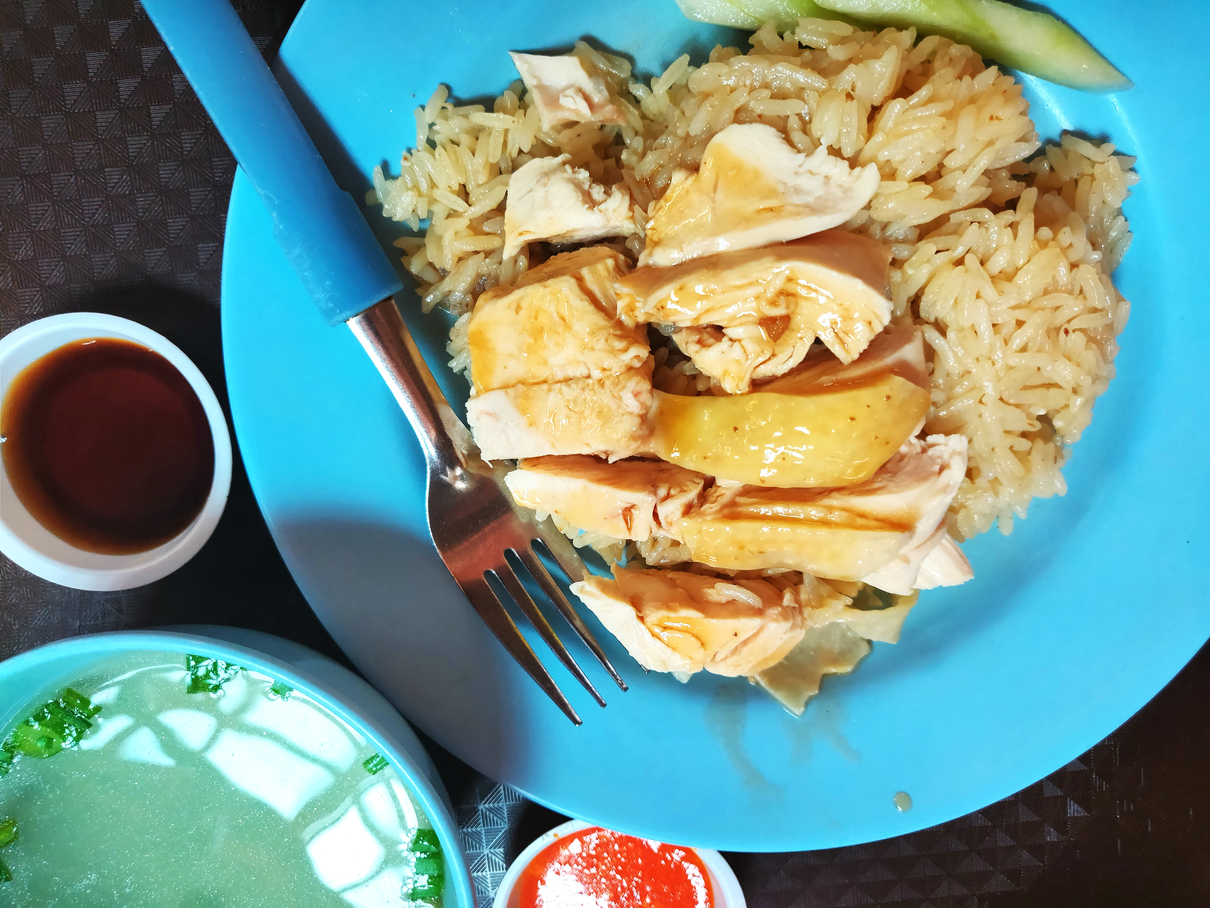 One of the top-selling dishes is the Tian Hainanese Chicken Rice. The late Anthony Bourdain wanted to take it back home to New York