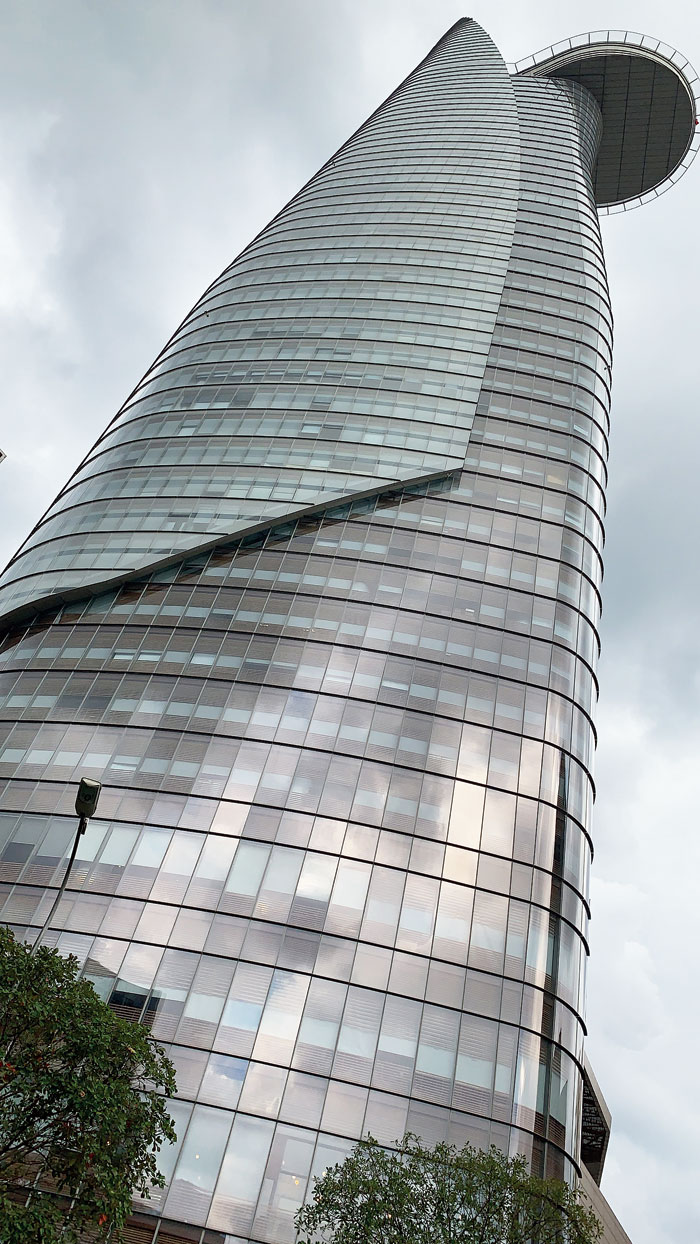 At Bitexco Financial Tower, the lift takes 37 seconds to reach the 60th floor