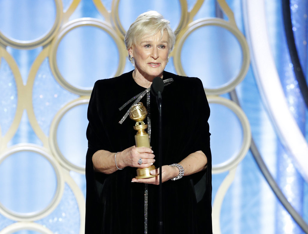 Few nominees were considered more of a sure thing than Lady Gaga as best actress in a drama. But Glenn Close pulled off the shocker in that category, too, for her performance in The Wife, as the spouse of a Nobel Prize-winning author. Close said she was thinking of her mother,