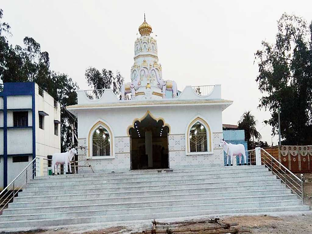The Ram temple set to be inaugurated by Tiwari.