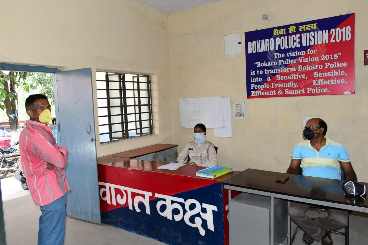 Police officials at Harla Police Station inquiring after the suicide incident on Sunday, May 24, 2020.
