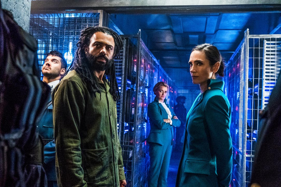 TRAIN-SPOTTING: Daveed Diggs and Jennifer Connelly in Snowpiercer, now streaming on Netflix