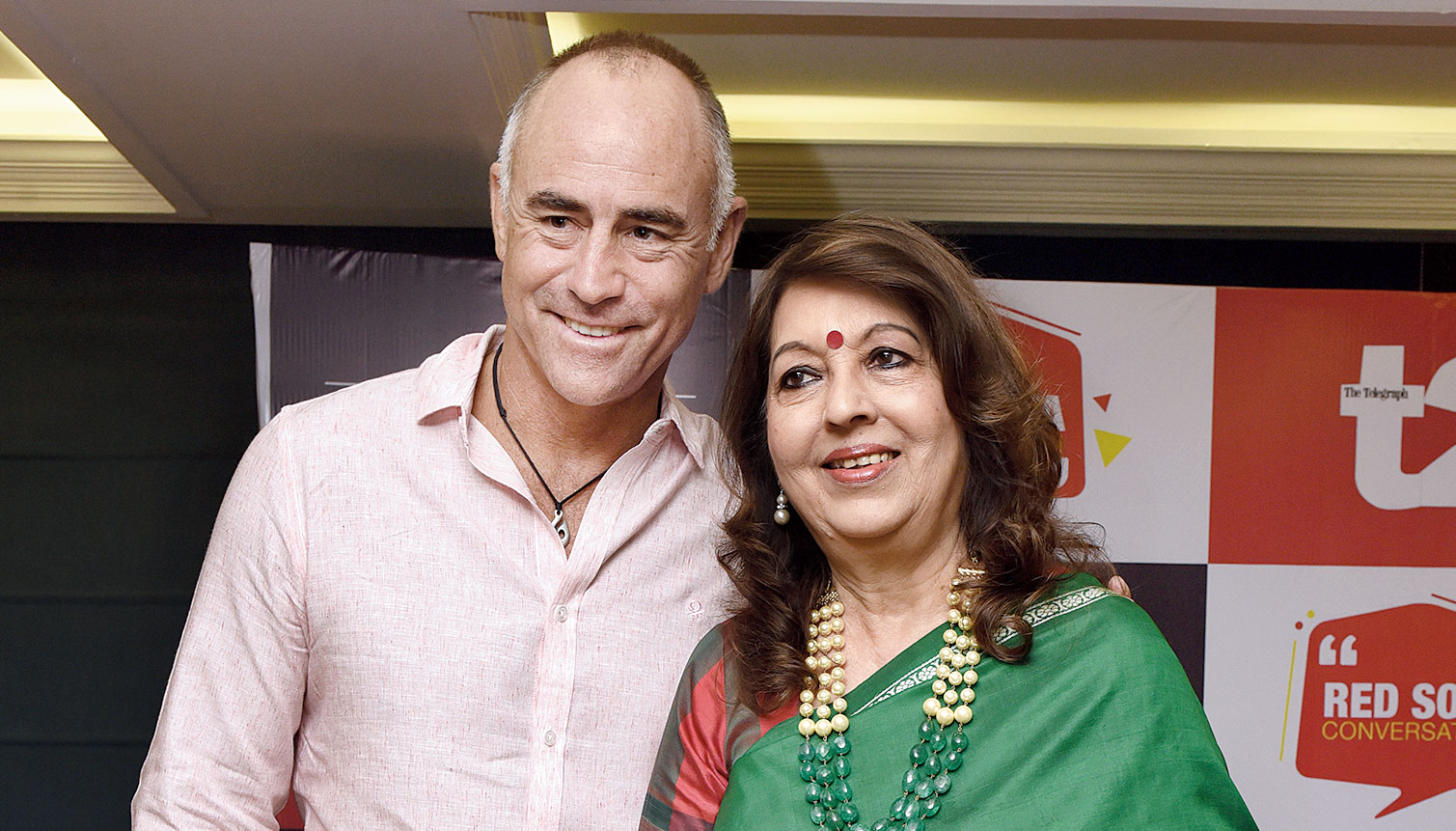 Paddy Upton with Rita Bhimani at Red Sofa Conversation presented by The Conclave, in association with t2 at The Conclave.