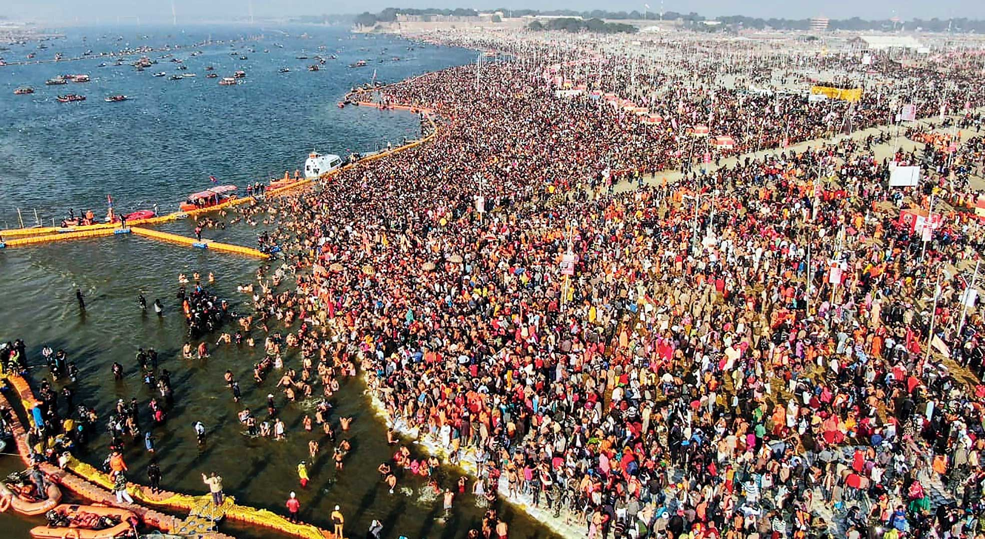 A sea of devotees at Kumbh Mela in Allahabad earlier this week