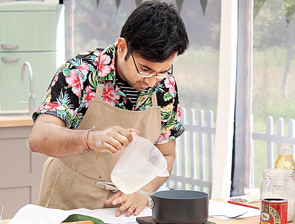 Rahul Mandal on The Great British Bake Off
