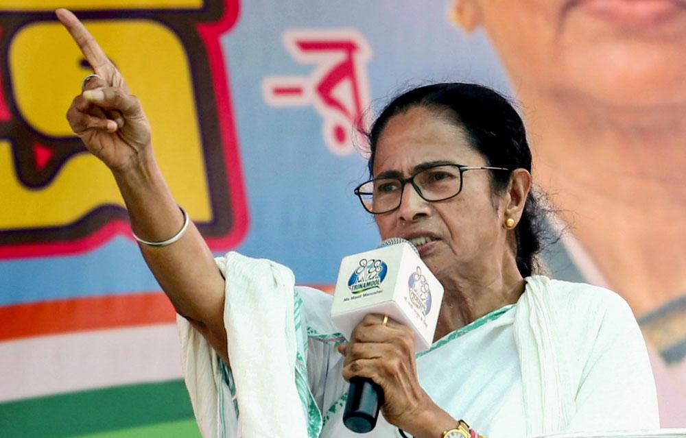 Mamata Banerjee at Barrackpore on Sunday.