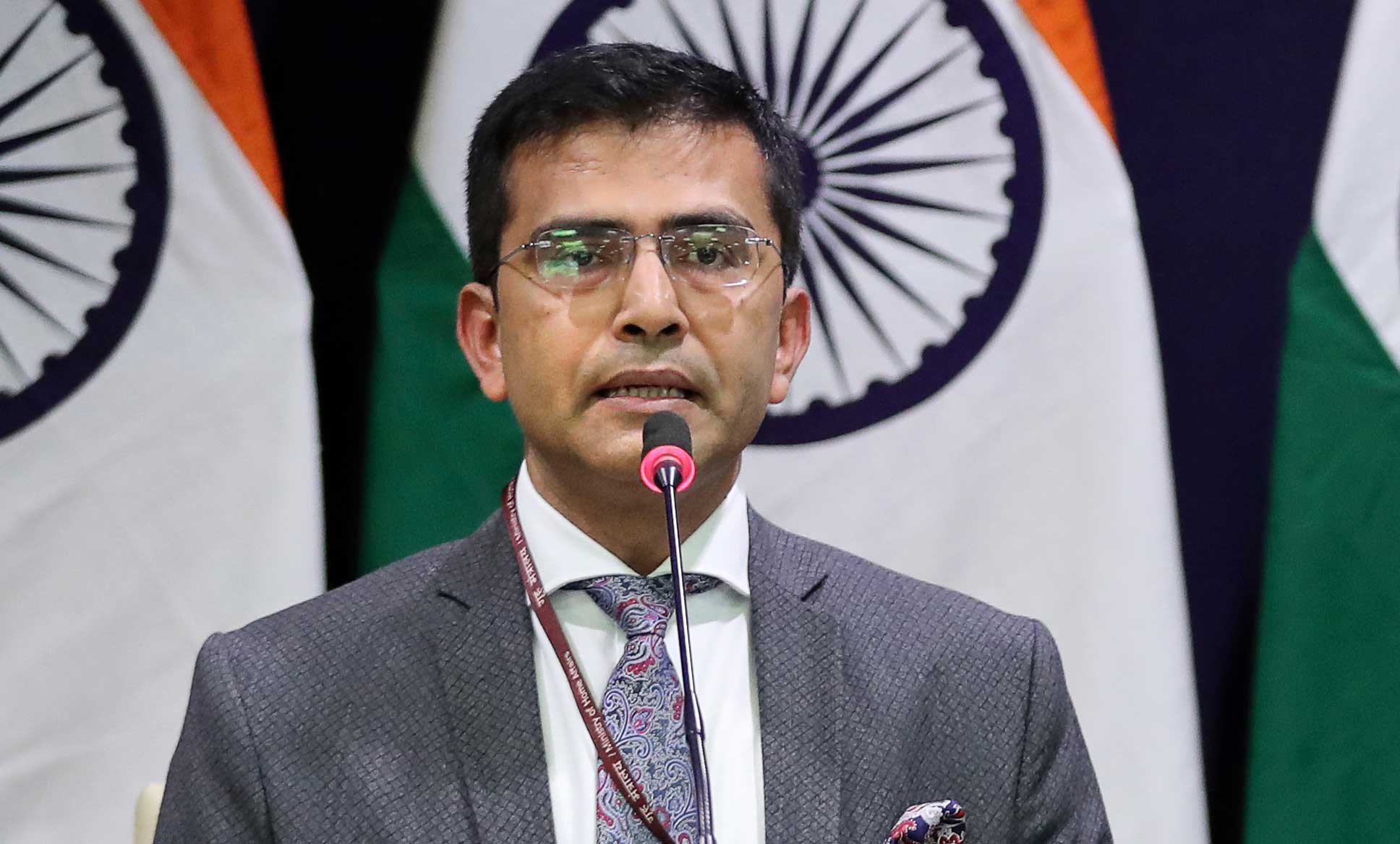 "Raveesh Kumar, the MEA spokesperson, said: ""We reject the unwarranted and gratuitous comments made by Pakistan on the judgment of the Supreme Court of India on a civil matter that is completely internal to India."""