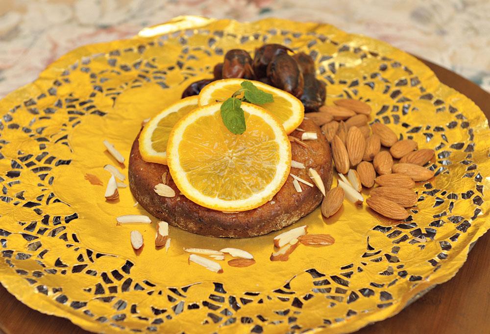 Dates & Almond Torte Cake