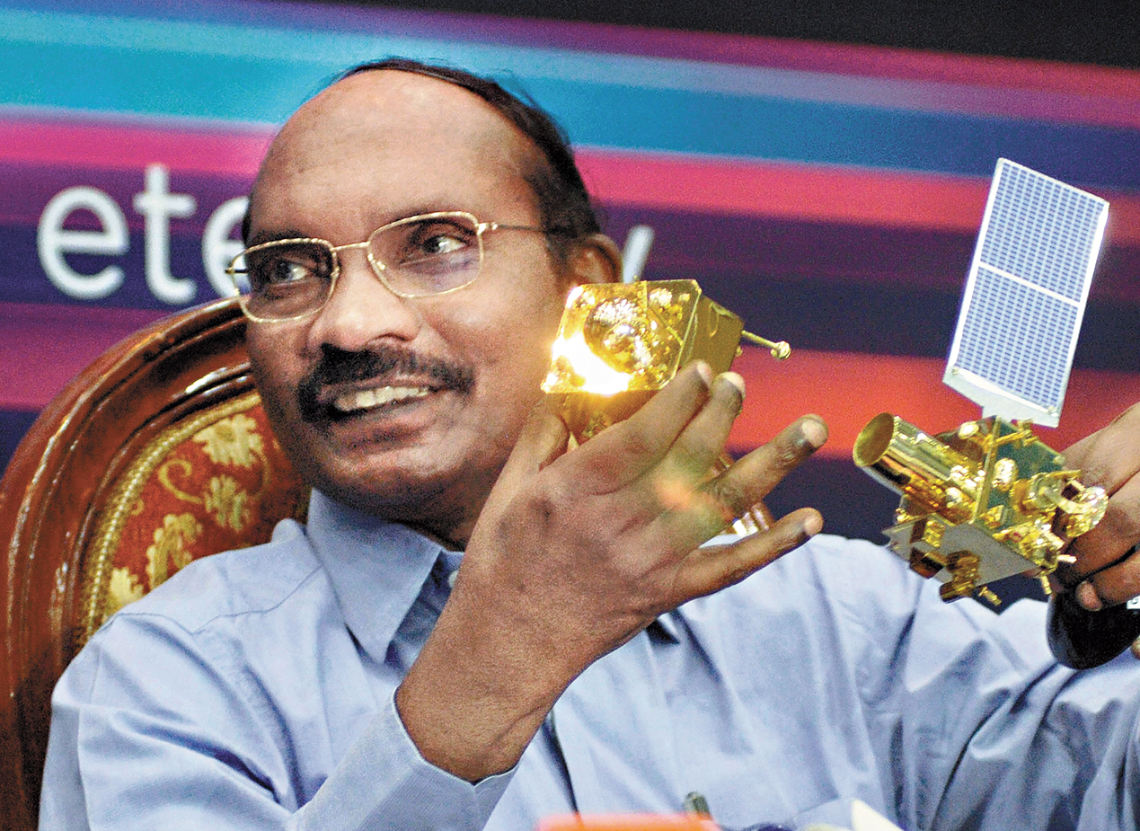 Isro chairman K Sivan at the news conference in Bangalore on Tuesday.