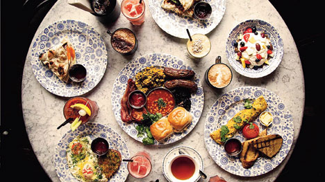 The fare at restaurant Dishoom