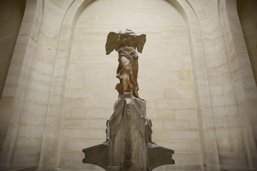 The Winged Victory of Samothrace, a marble sculpture that depicts the Greek goddess, Nike, apparently smells like white tuberose flowers and woody myrrh