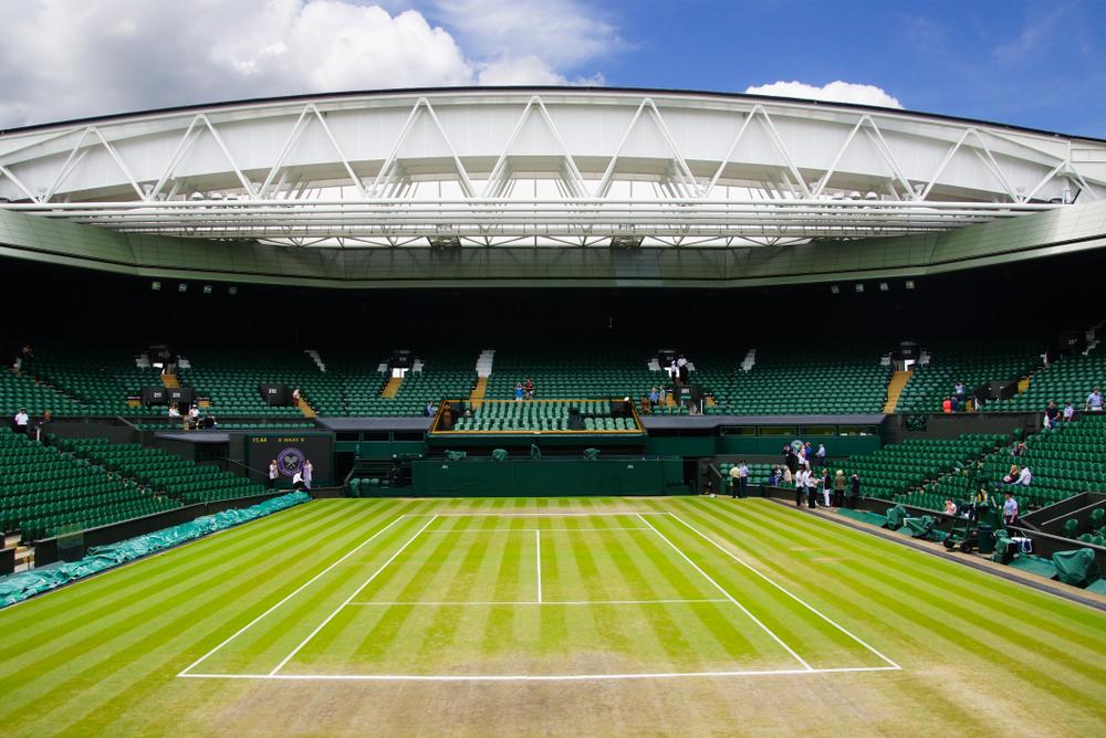 The Wimbledon tennis centre court in London.