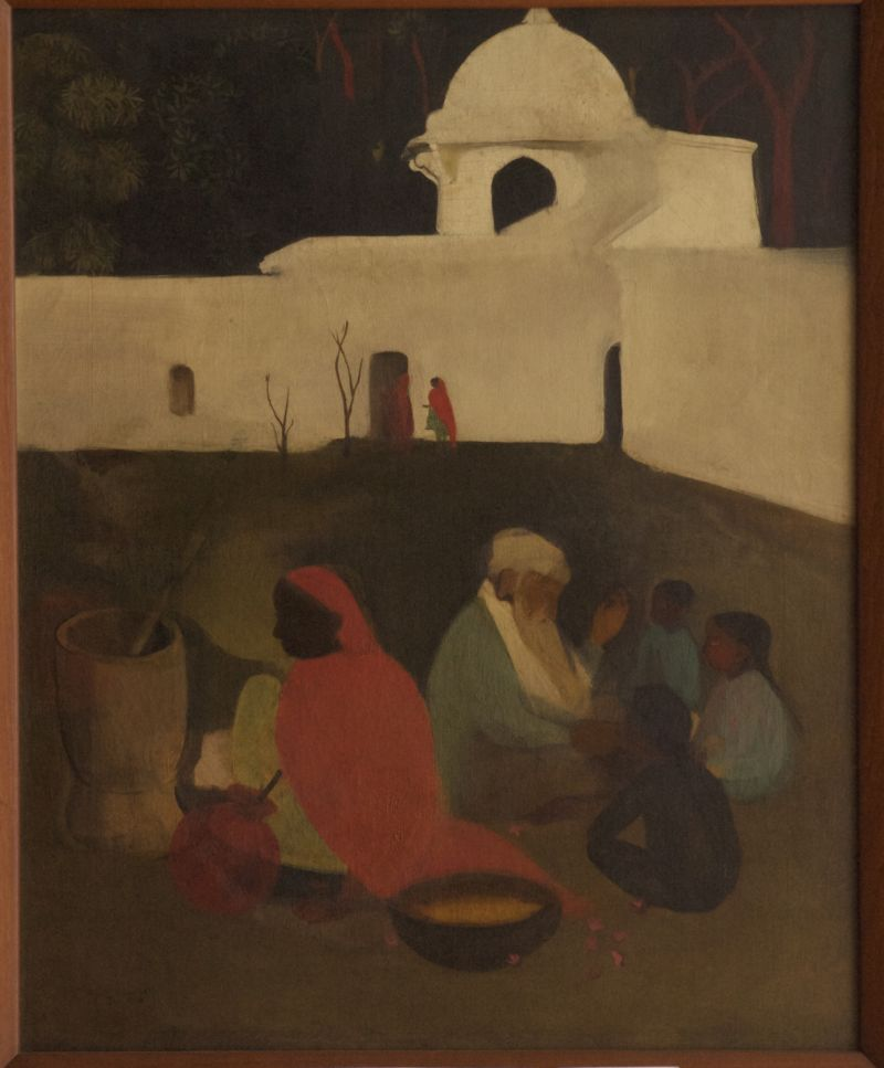 Ancient story teller by Amrita Sher-Gil at the National Gallery of Modern Art, New Delhi