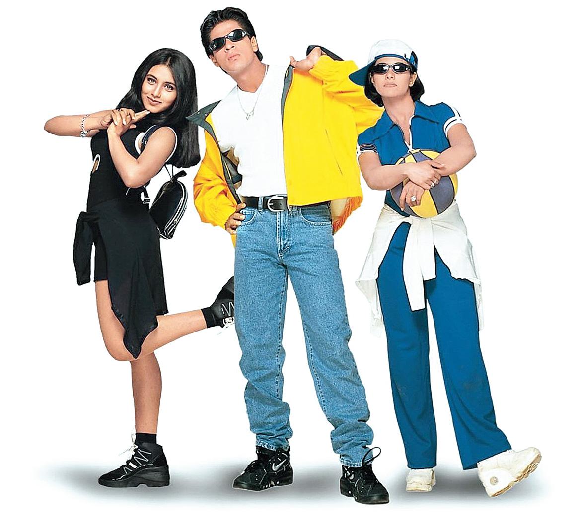 From left: Rani Mukerji, Shah Rukh Khan and Kajol in Kuch Kuch Hota Hai.