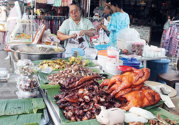 Street food stall in the Amphawa Floating Market