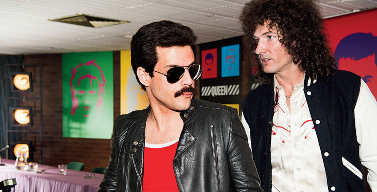 Rami Malek (left) and Gwilym Lee in Bohemian Rhapsody
