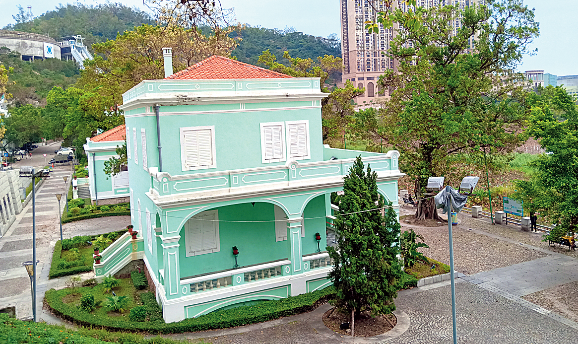 Taipa Village is an oasis of calm, with houses that fuse Portuguese and Chinese architecture and are painted in pop colours