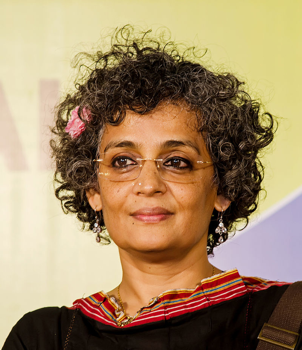 """Activist Arundhati Roy, who is loved in London not only because of her writing but because she can always be relied on to bash """"the Indian authorities"""", has been included for The God of Small Things under the category """"Identity""""."""