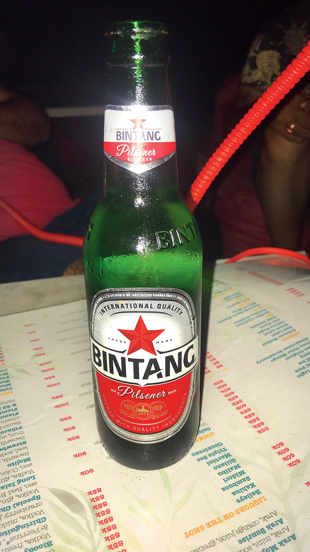 Bitang beer, which is one of the cheapest tipples you can find. Pick it up at supermarkets for about IDR 15,000 (about Rs 74)