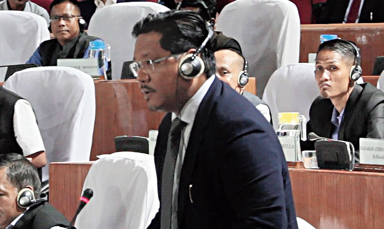 Meghalaya chief minister Conrad K. Sangma in Assembly on Tuesday.