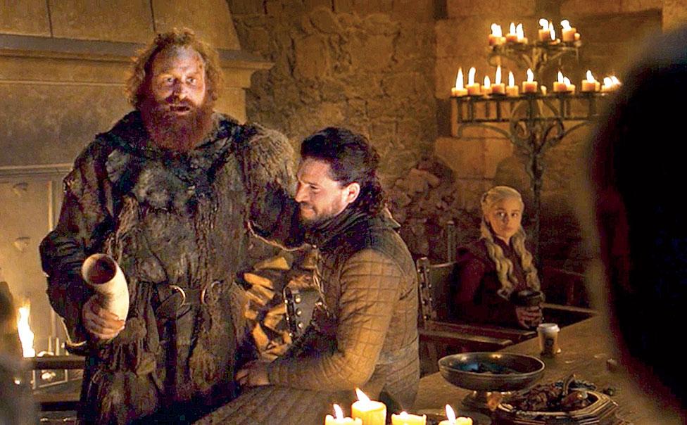 A still from the Game of Thrones. A Starbucks cup was spotted on a table next to Daenerys Targaryen by hawk-eyed fans of the immensely popular Game of Thrones, forcing an embarrassed HBO to remove it later.