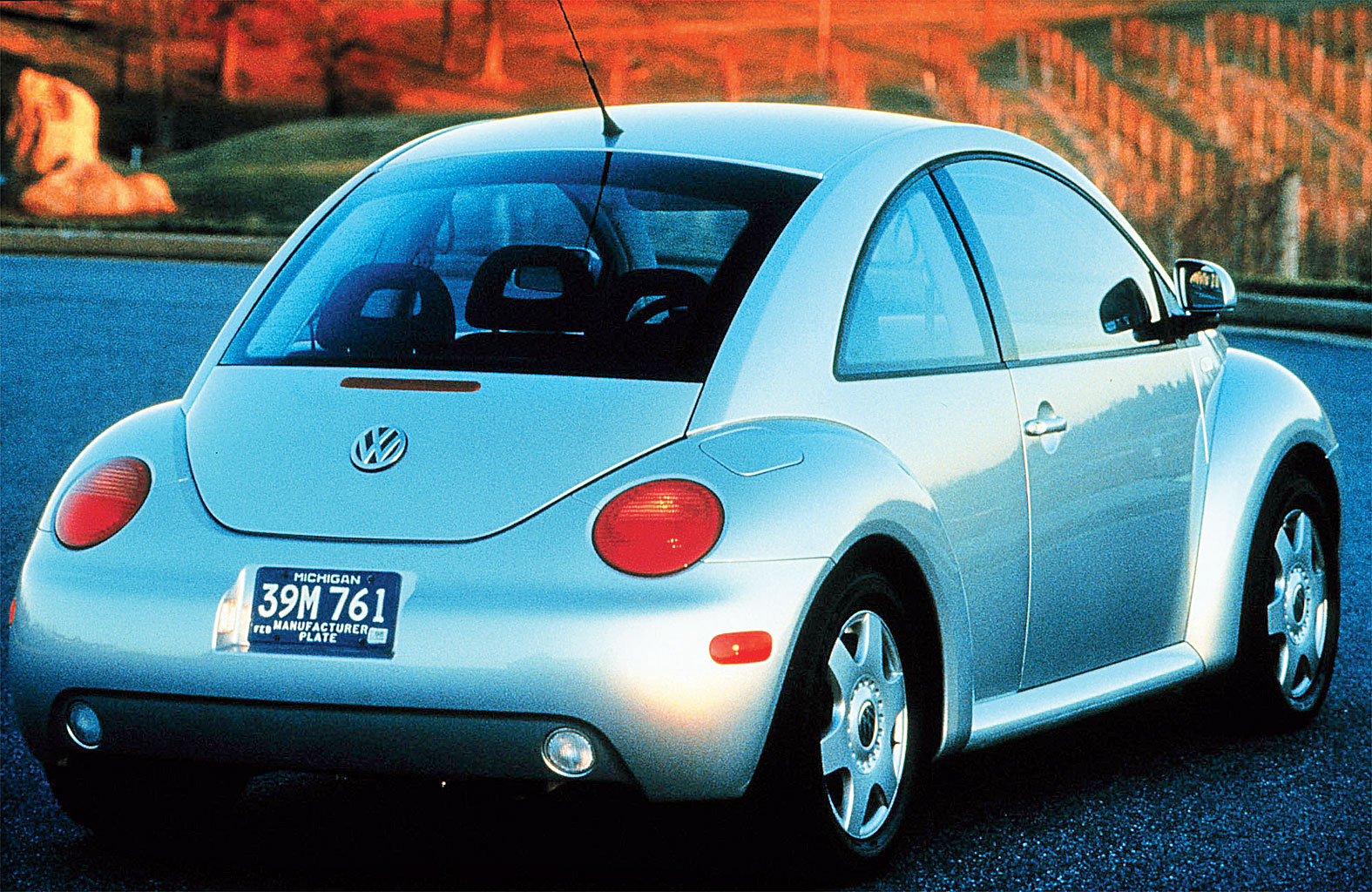 The 1999 iteration of the Beetle harked back to the original shape, and had a little vase on the dashboard for a flower as a throwback to its glory days as a flower power vehicle with psychedelic blooms painted on it. But purists have never accepted it as a real successor to the original for a variety of reasons, not least of which was the water-cooled front engine and the car's VW Golf underpinnings.