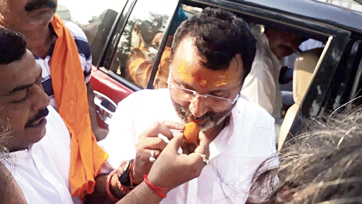 BJP candidates Nishikant Dubey in Godda.