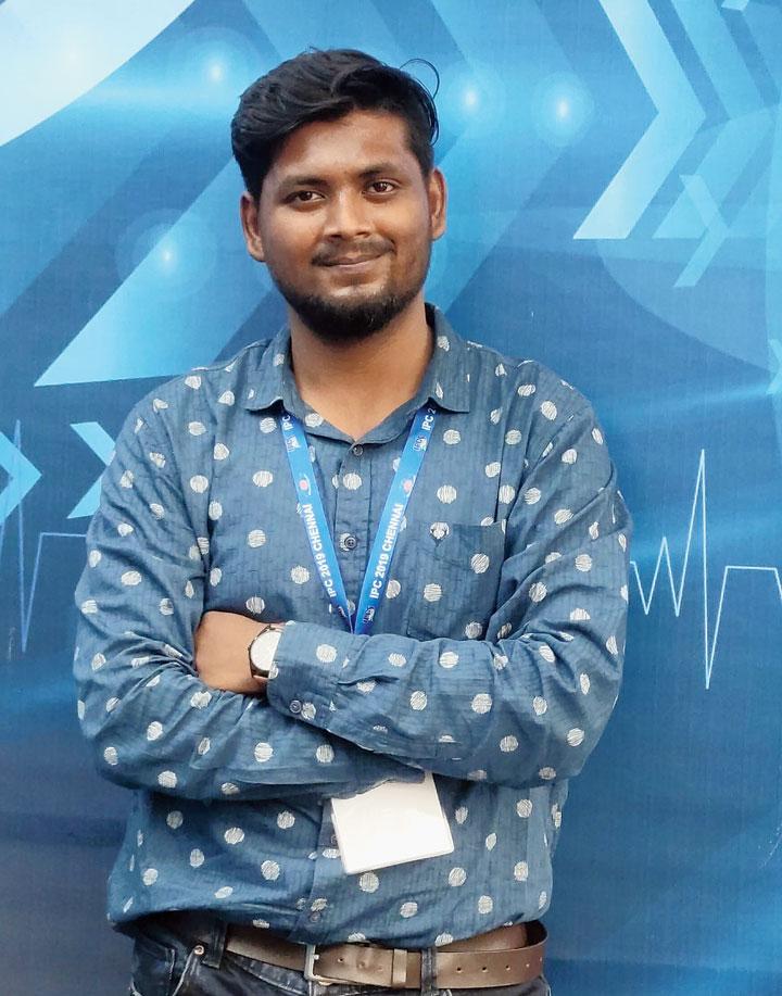 Soubhagya Das  Jamshedpur resident, student at SRM University, Chennai